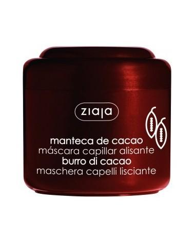 Mascarilla para el cabello de manteca de cacao.