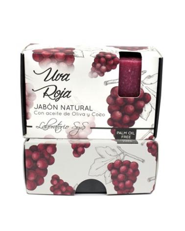Jabón natural premium Uva Roja 100 gr