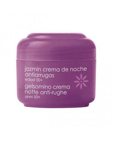 Crema facial de noche antiarrugas de jazmin.