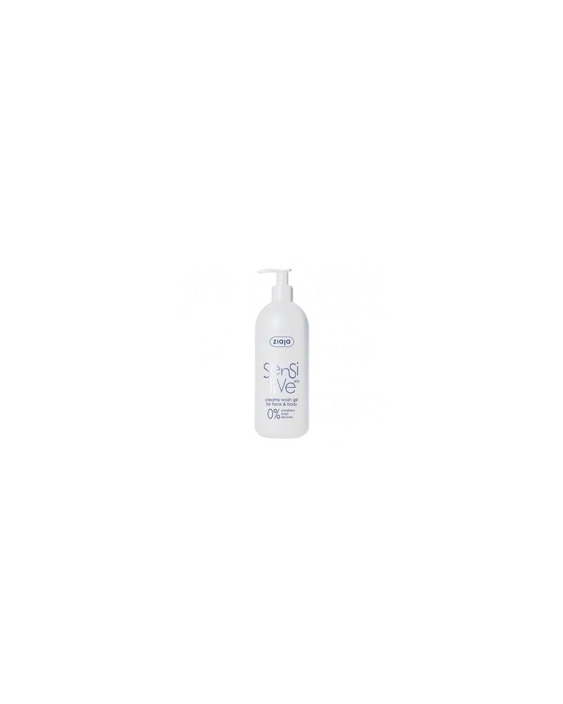 Sensitive Gel cremoso limpiador para el rostro y cuerpo con pieles sensibles